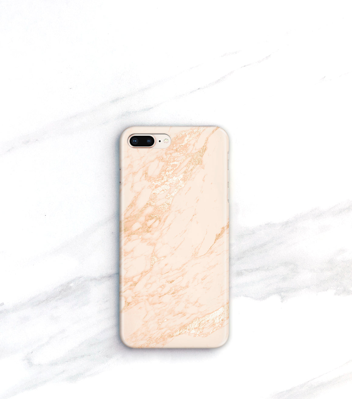 Blush Gold Marble Case for iPhone 8 Plus