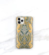 iPhone 11 pro case boho style in mustard yellow and gray