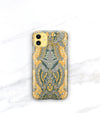 Bohemian chic iPhone 11 case in yellow and gray