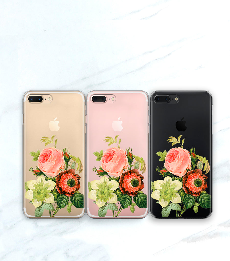 Vintage Bouquet Clear Case | iPhone