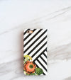 Bouquet Stripes iPhone 7s Wallet case