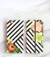 Bouquet Stripes Wallet front and back