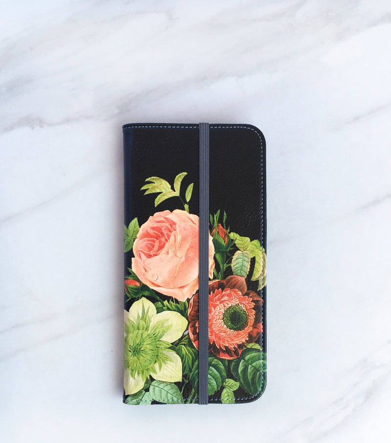 Bouquet Wallet case front and back