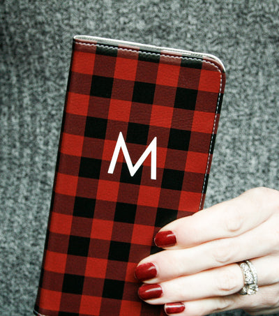 Buffalo Plaid Wallet case for iPhone