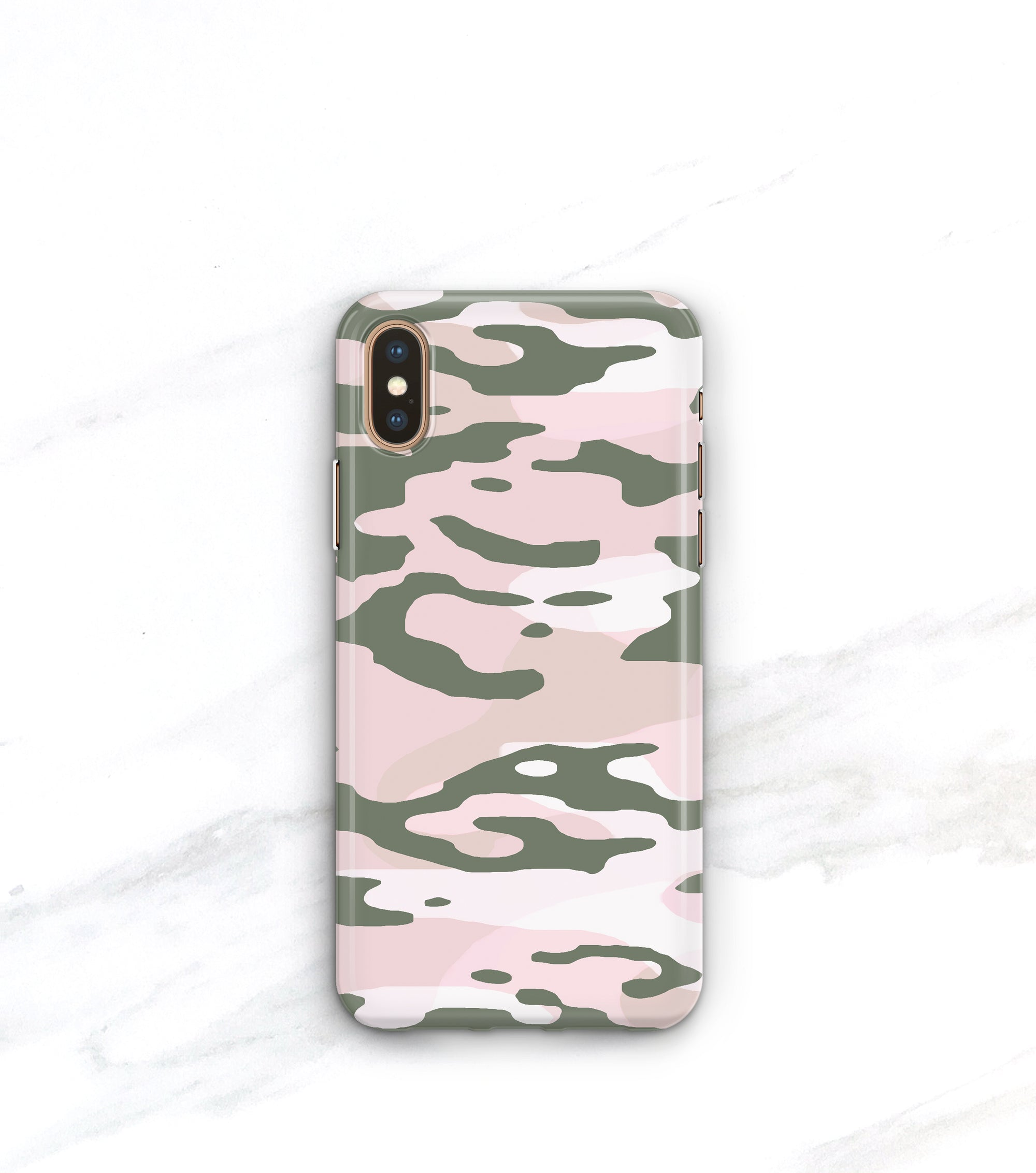 pink and green Camo Phone Case iPhone for Xs Max
