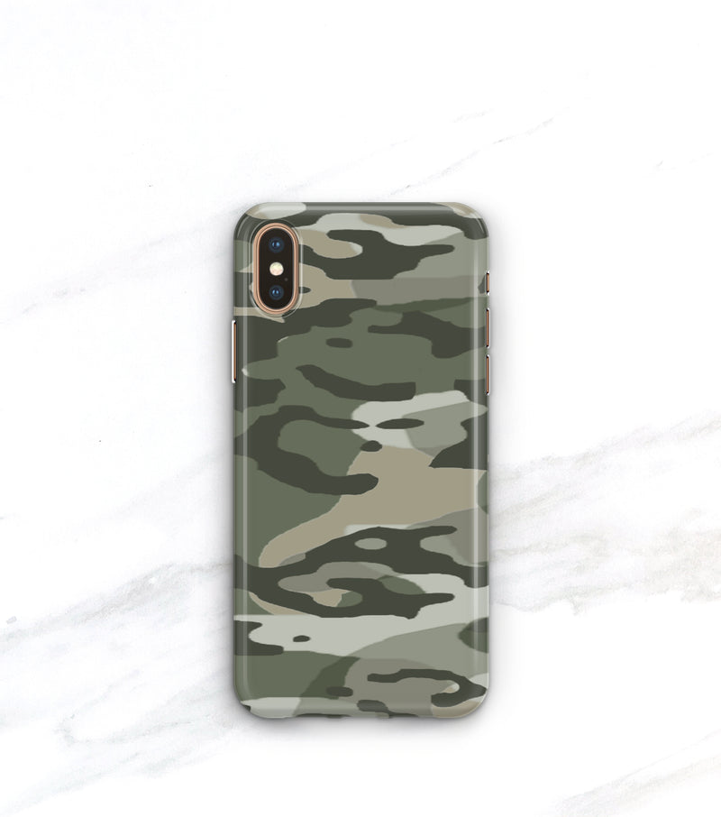 army green camo print case for iPhone