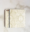 Champagne Boho Wallet case with accessories