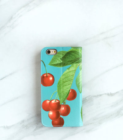 Cherry iPhone 7 wallet case