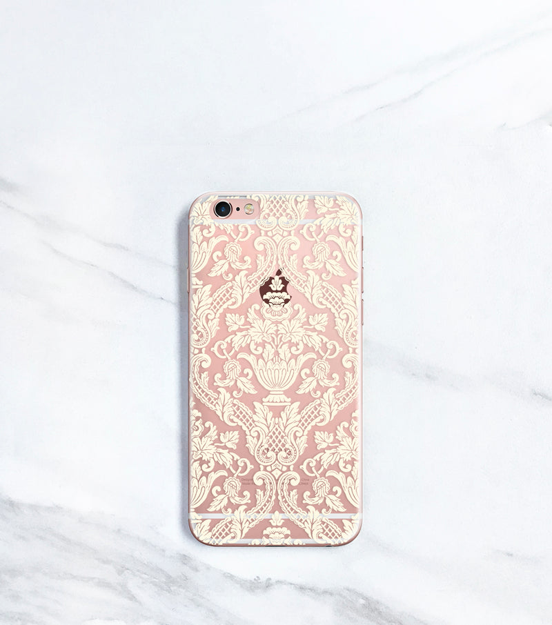 Damask Clear Case for iPhone
