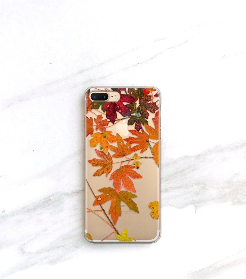 clear fall leaves iPhone 11 pro case
