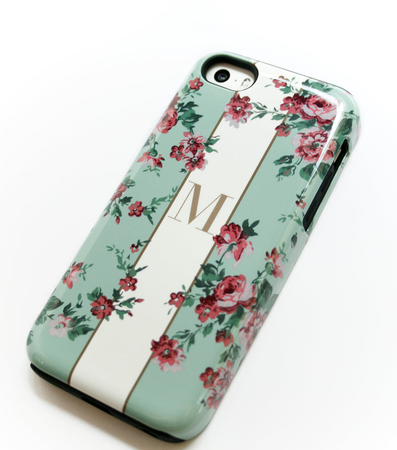 Floral Band case with initial