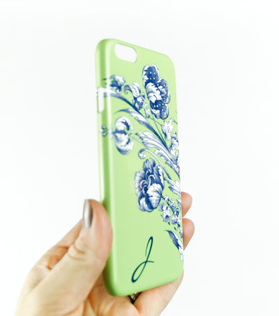 Spring Floral case with initial