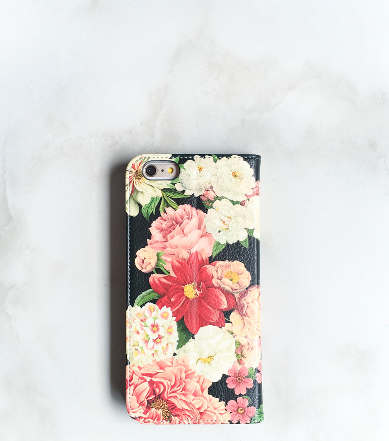 Floral Bunch Wallet case front and back