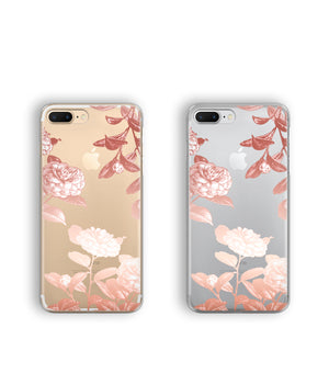 Rose gold floral iPhone 7 Plus case