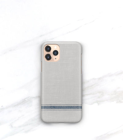 iPhone 11 pro case in French blue linen pattern