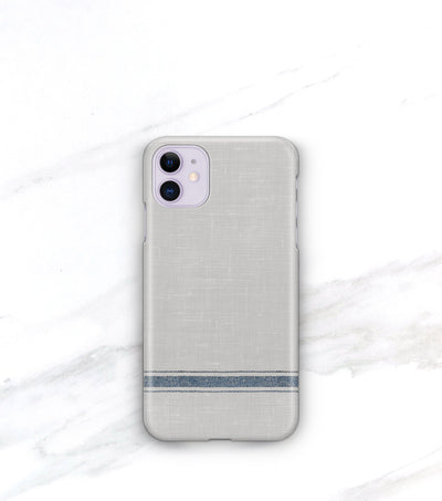 modern farmhouse iphone 11 case in blue and gray with matte finish