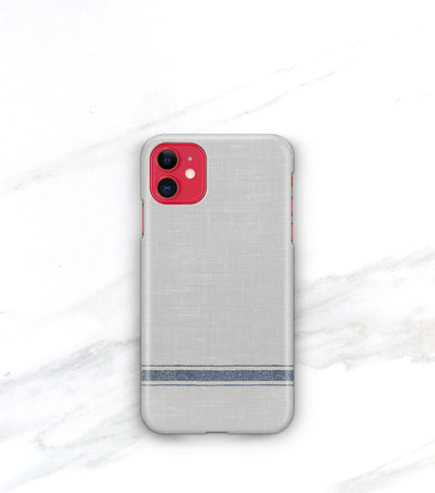 red iphone 11 in urban farmhouse grain sack stripe phone case