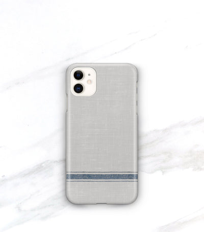 blue and gray stripe matte iphone 11 case
