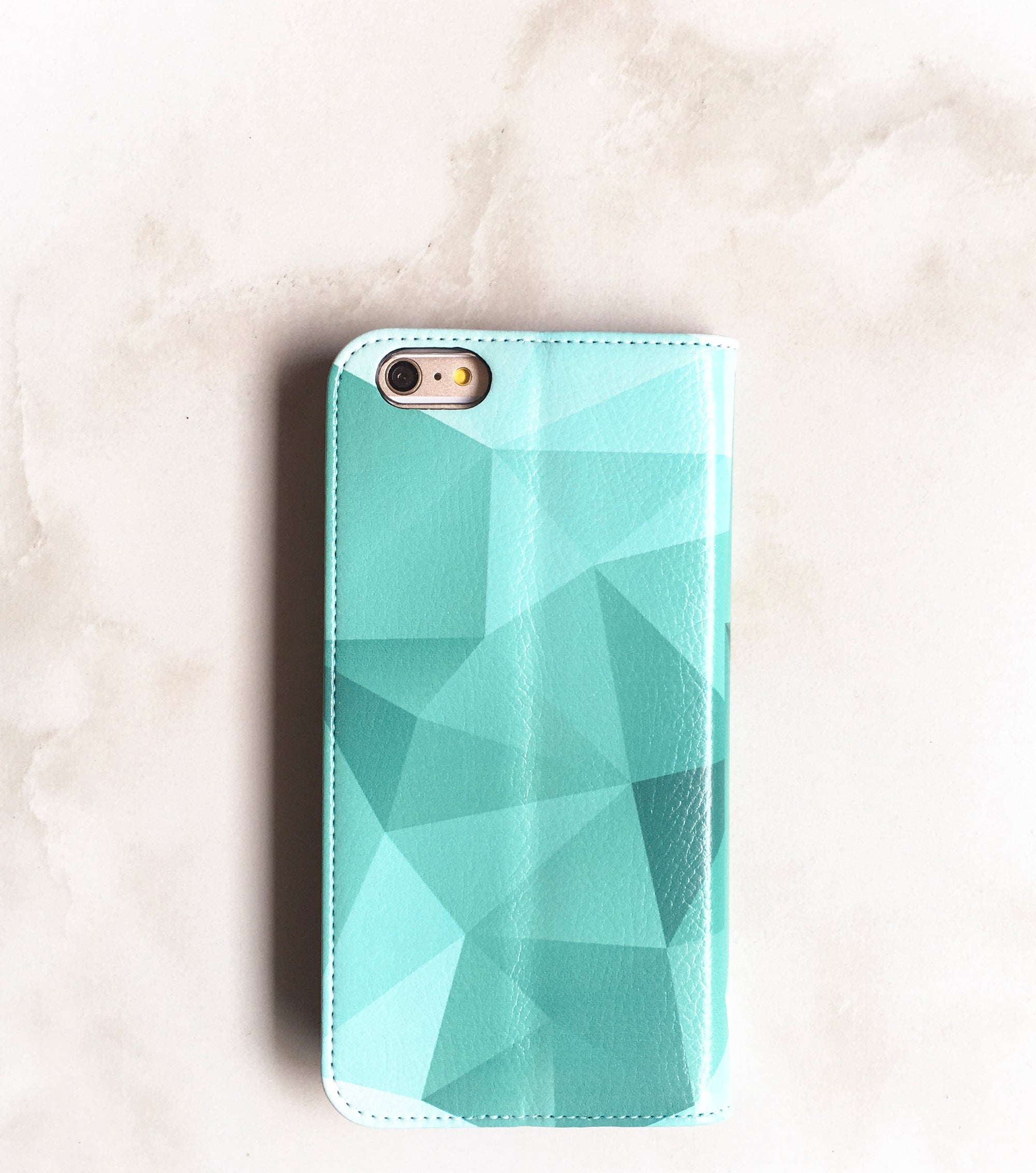 Teal Geometric iPhone 7 Wallet case