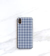 Blue Gingham Case for iPhone 8 Plus, iPhone X
