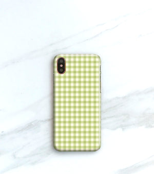 Black Gingham Case for iPhone X