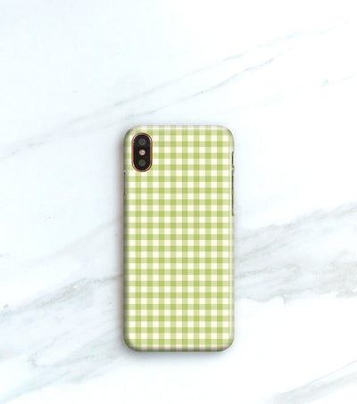 Green Checked Case for iPhoneX