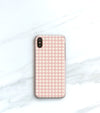 Pink Gingham Case for iPhone X