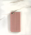Red Gingham iPhone 7 wallet case