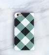 Wide Gray Gingham iPhone 7 Wallet case