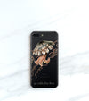 Jellyfish Clear case over a black iPhone