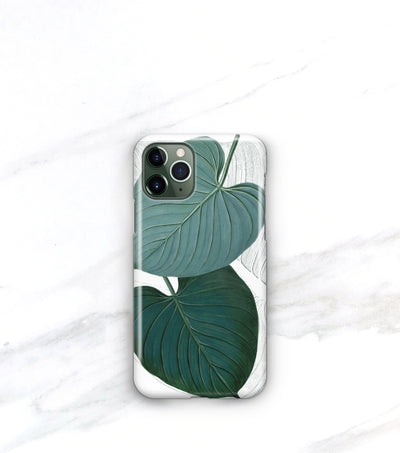 modern tropical leaf iPhone 11 pro max case