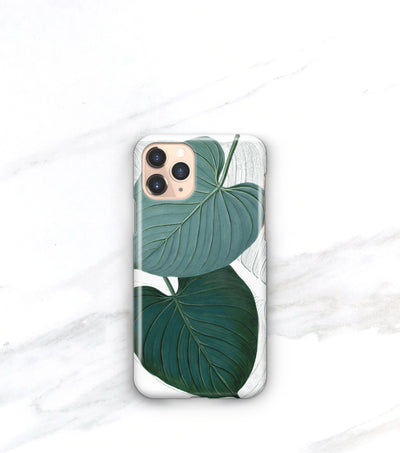 modern tropical leaf case for iPhone 11 pro