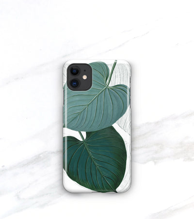 iPhone 11 tropical case leaf botanical