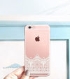 Lace Clear Case over a rose gold iPhone