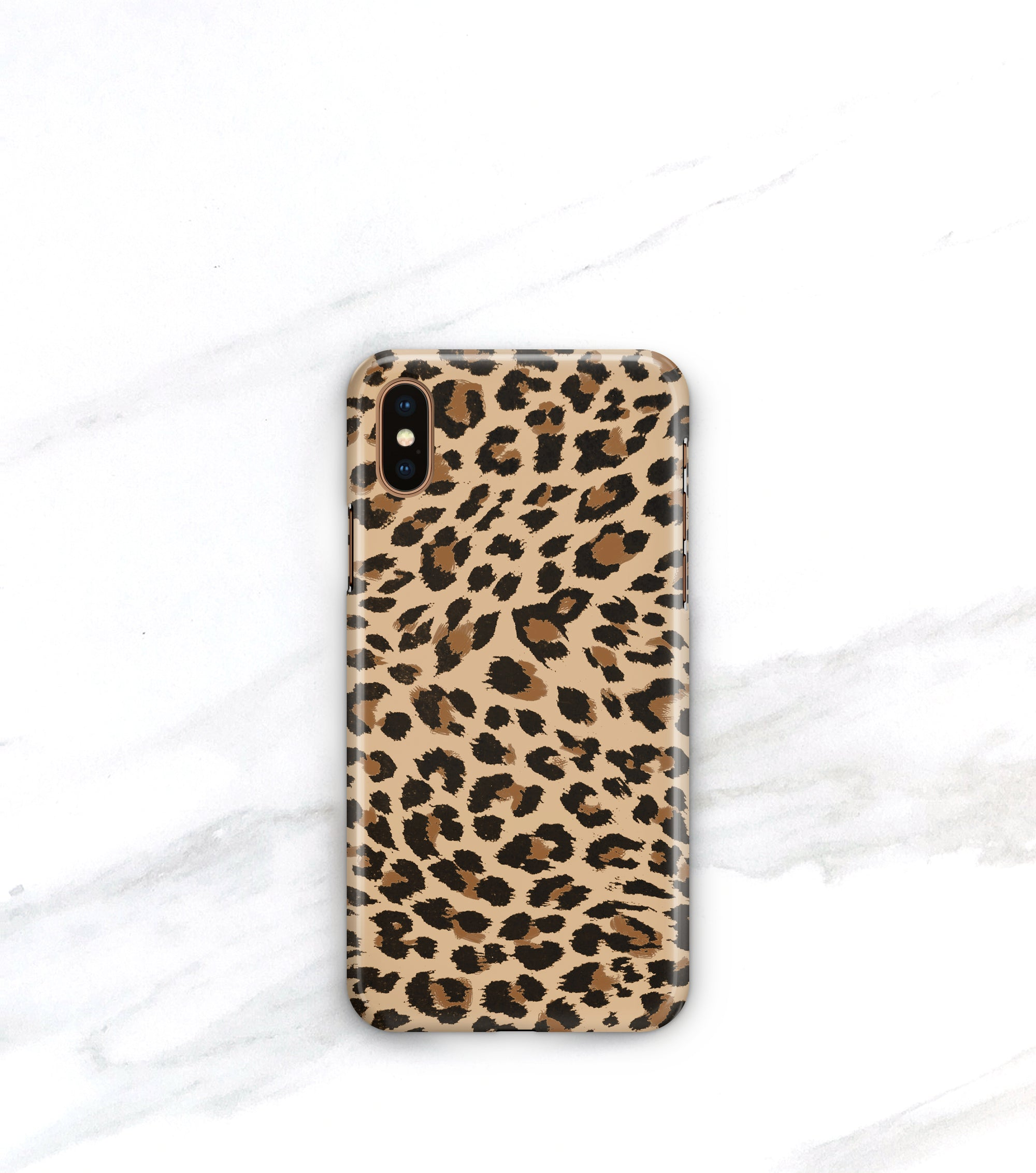 leopard print iPhone xs case