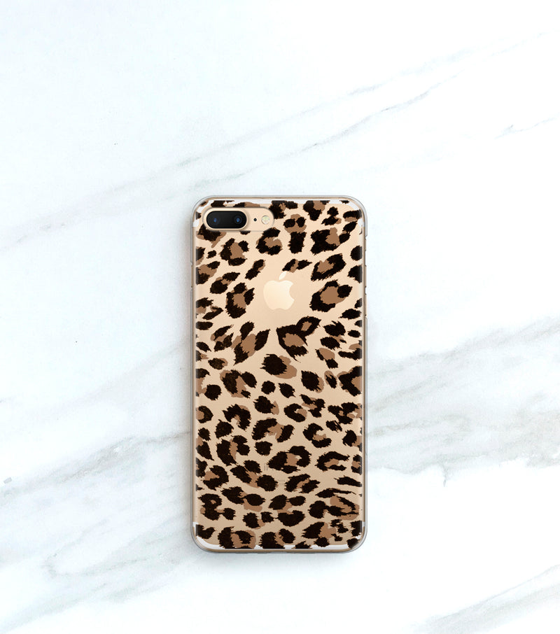 leopard print iPhone 11 pro case clear