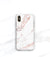 Rose marble iPhone xs max case with monogram