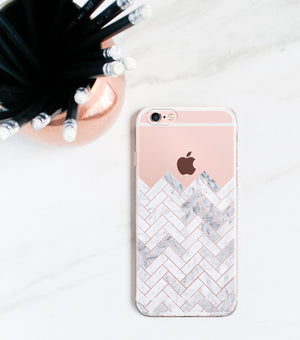Marble Tile Clear Case