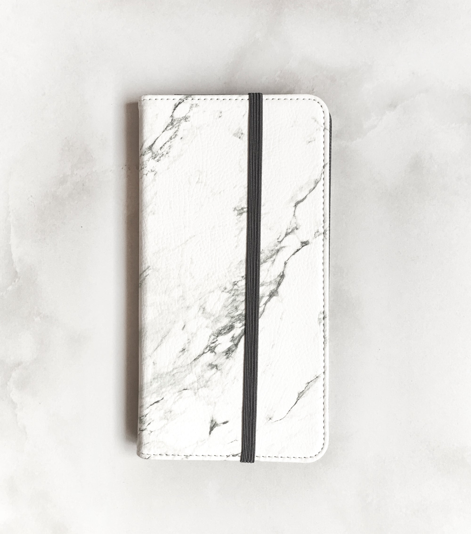 Marble Wallet case for iPhone with strap
