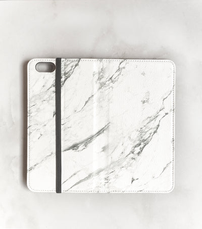 Marble Wallet case for iPhone full view