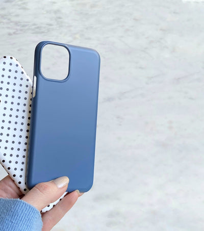 Matte french blue iphone 11 pro case