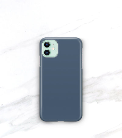 matte french blue iphone 11 case on a green iphone
