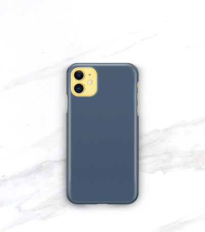 matte french blue case on a yellow iphone 11