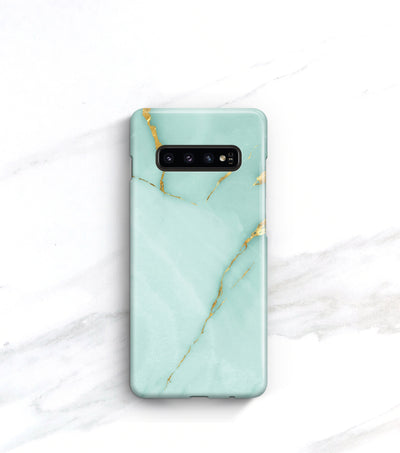 Turquoise and gold Galaxy S10 case
