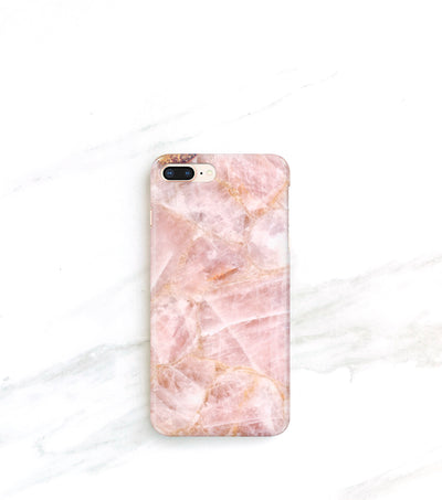 Case for iPhone rose quartz in millennial pink