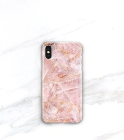 Rose quartz iPhone X case