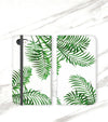 Palm Fronds Wallet case for iPhone front and back
