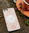 Peach Floral Damask tough case