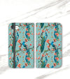 Peacocks Wallet case for iPhone front and back