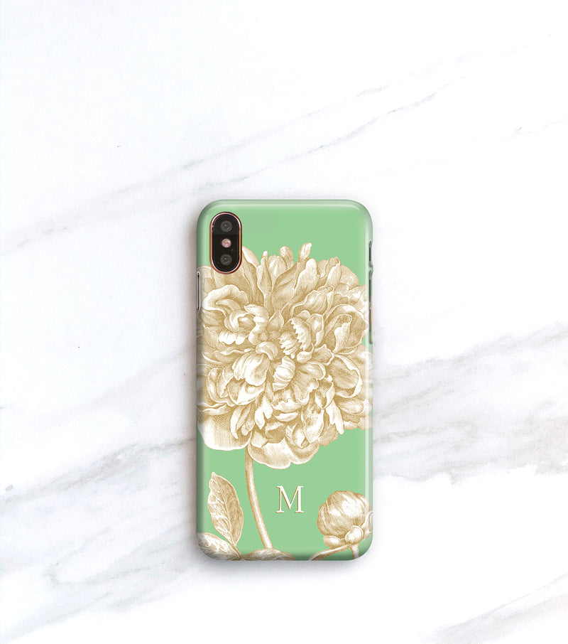 Vintage Peony Botanical Case for iPhone X